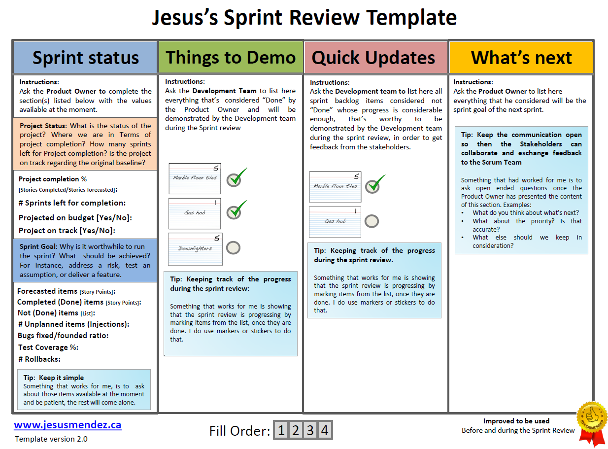 sprint retrospective meeting template techniques to improve sprint review jesus mendez